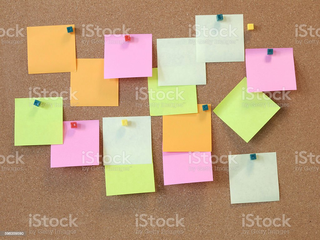 the cork notice board royalty-free stock photo