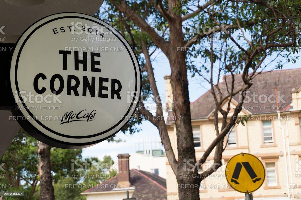 The Corner - McDonald's 'McCafe' in Sydney stock photo