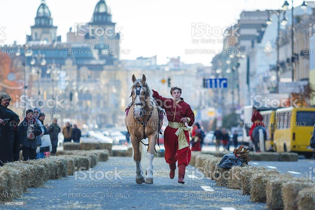 The cossacks show of riding stock photo