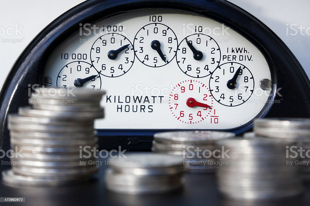 The Cost of Electricity stock photo