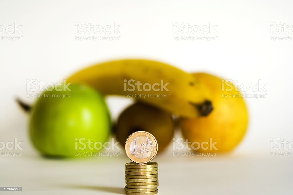 The cost of Fruits royalty-free stock photo