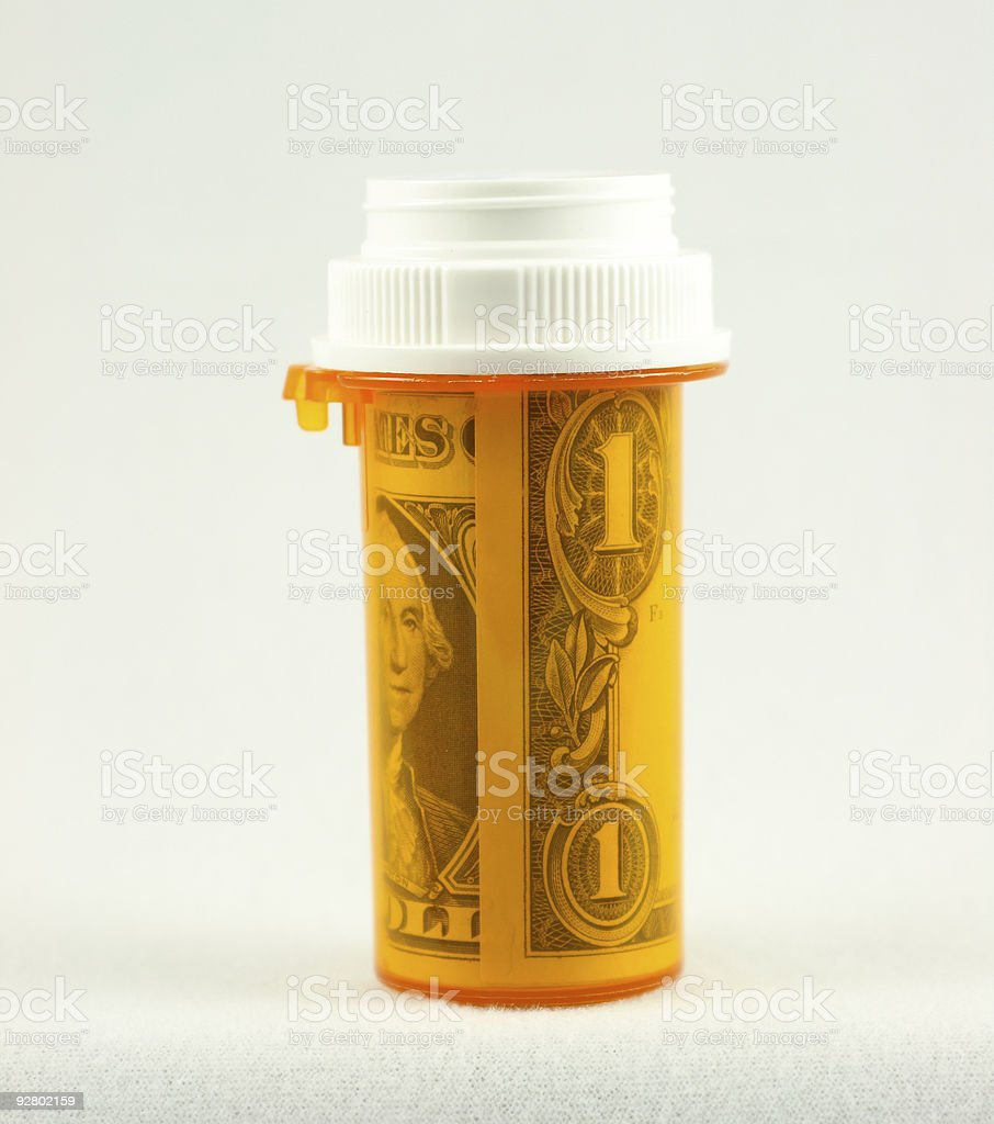 The Cost of Healthcare stock photo