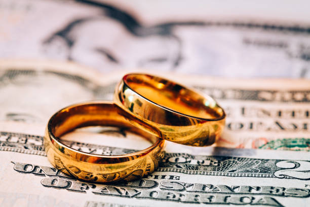 the cost of marriage in usa - divorzio foto e immagini stock
