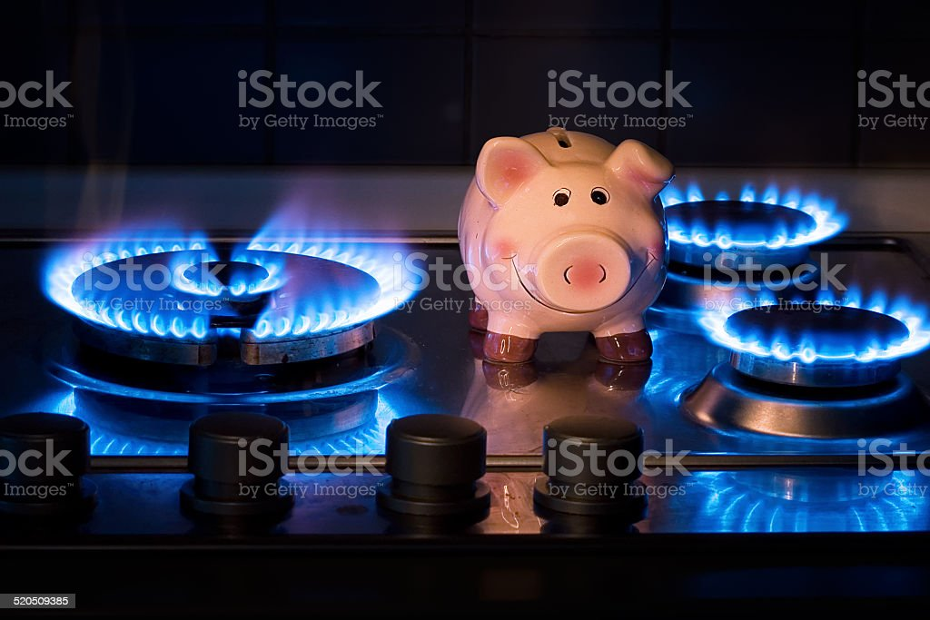 The cost of methane stock photo