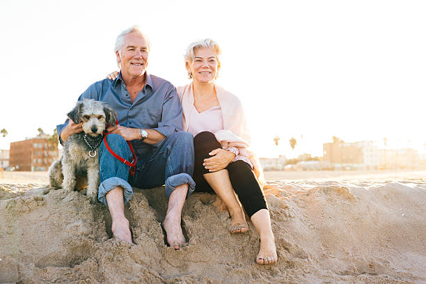 the cost of retirement happiness - 60 69 years stock photos and pictures