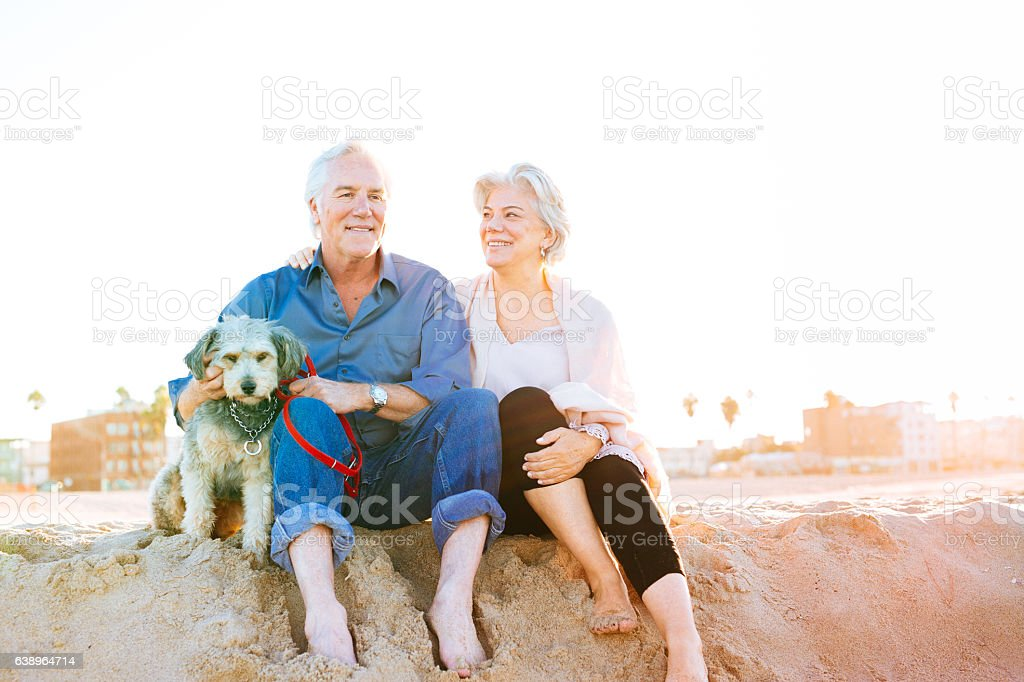 The cost of retirement happiness stock photo