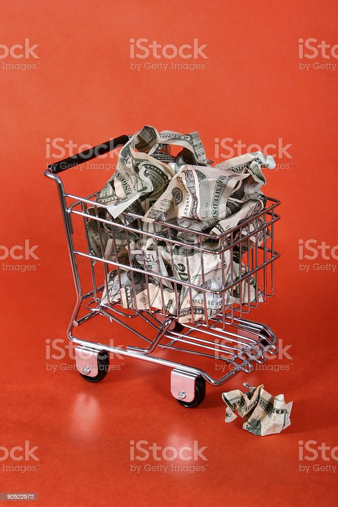 The cost of shopping 04. royalty-free stock photo