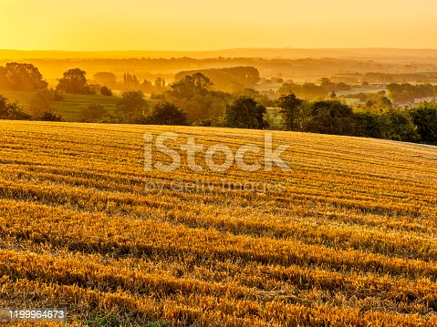 Agricultural landscape the Cotswolds region of the United Kingdom