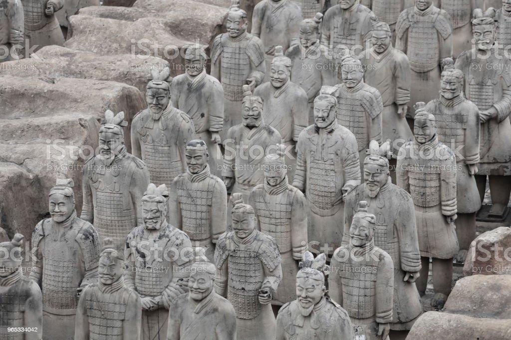 The counterfeit Terracotta Army. - Zbiór zdjęć royalty-free (Antyczny)