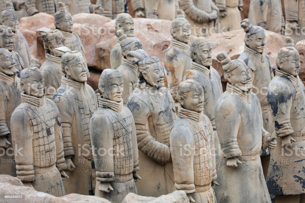 The counterfeit Terracotta Army. royalty-free stock photo
