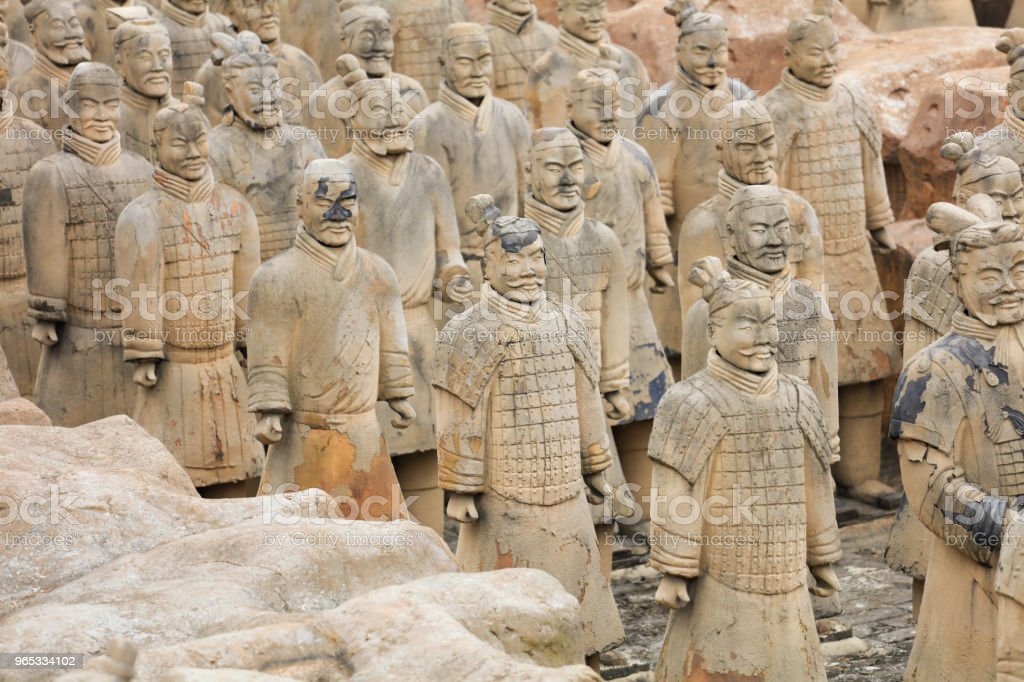 The counterfeit Terracotta Army. zbiór zdjęć royalty-free