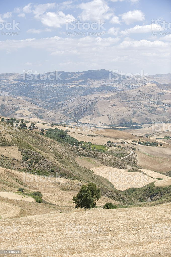 The countryside of Sicily stock photo