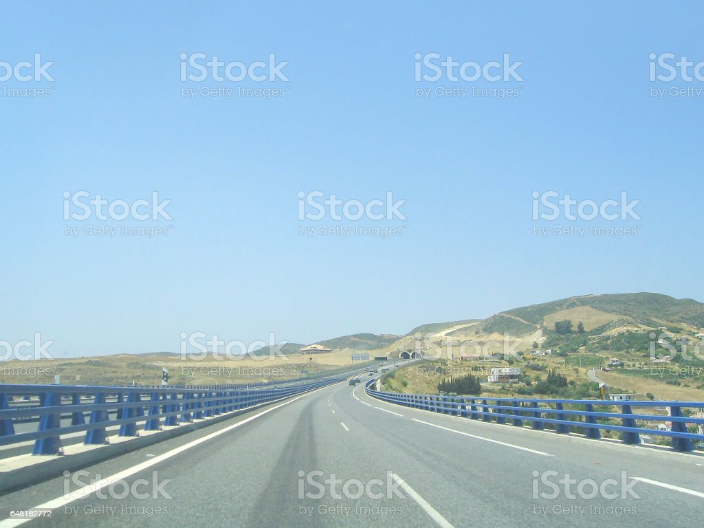 The countryside of the South of Spain. stock photo