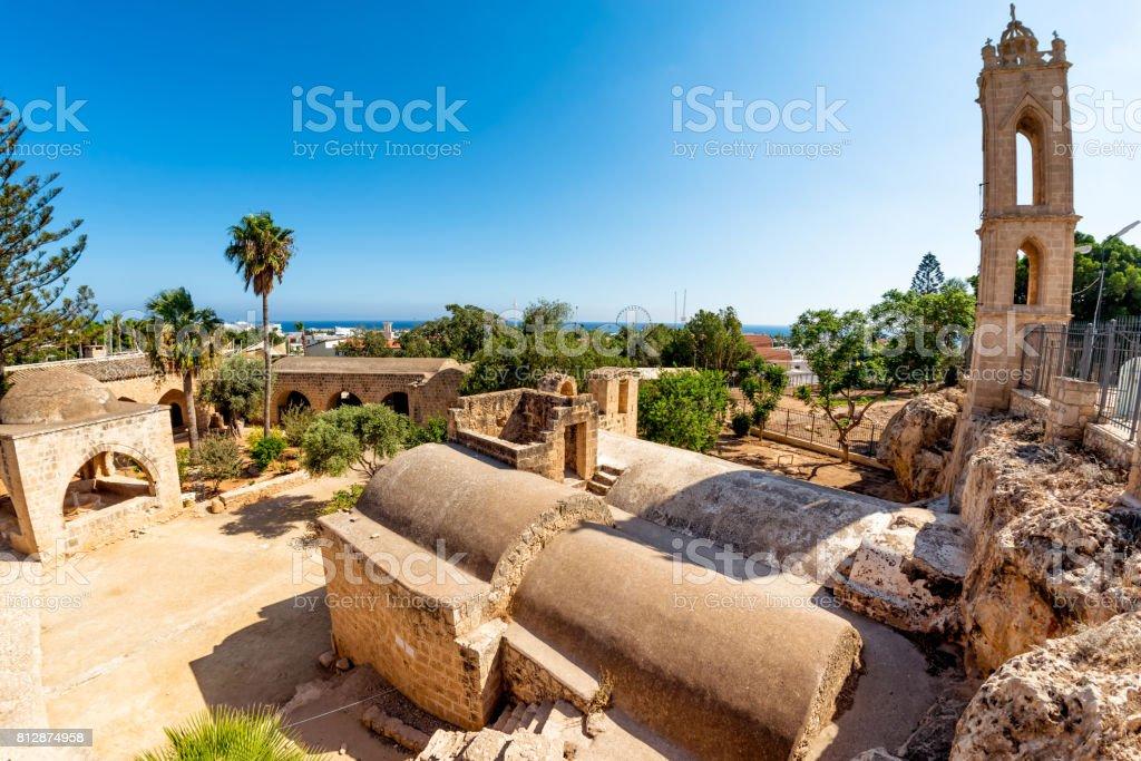 The courtyard of Ayia Napa Monastery. Ayia Napa, Cyprus stock photo