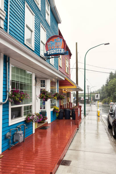 The Cow Bay Pioneer Guesthouse at Prince Rupert. stock photo