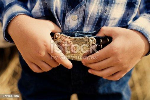 A young cowboy.