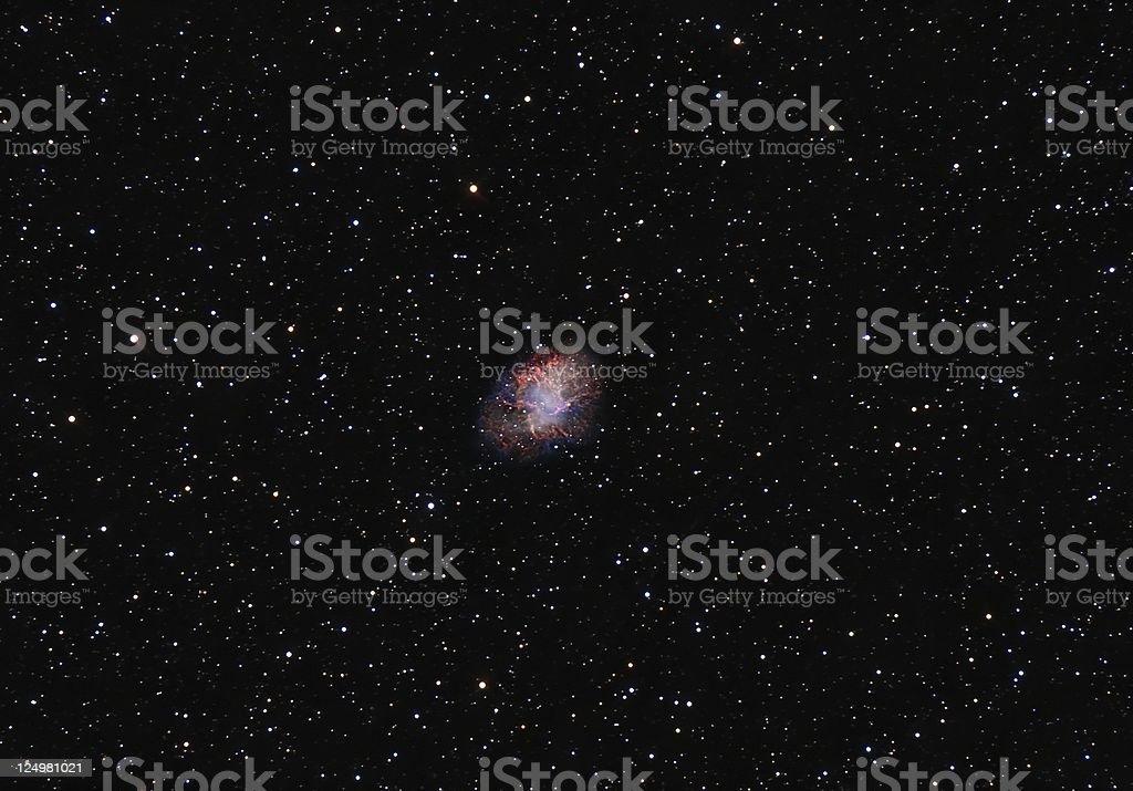 The Crab-Nebula royalty-free stock photo