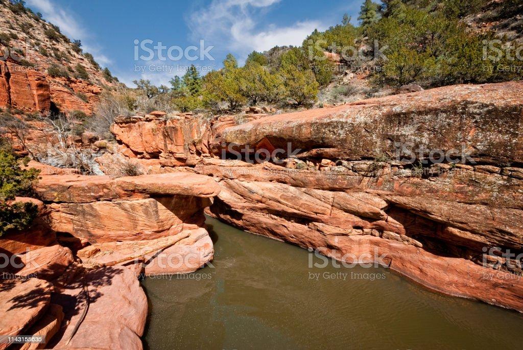 The Crack on Wet Beaver Creek stock photo