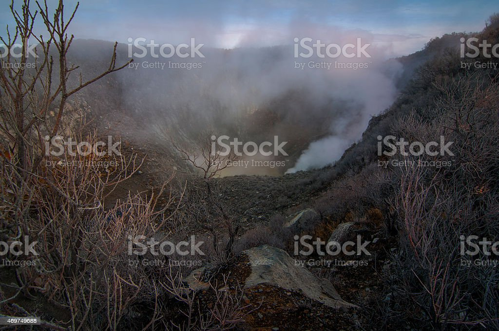 The Crater of Mountain Sindoro Indonesia stock photo
