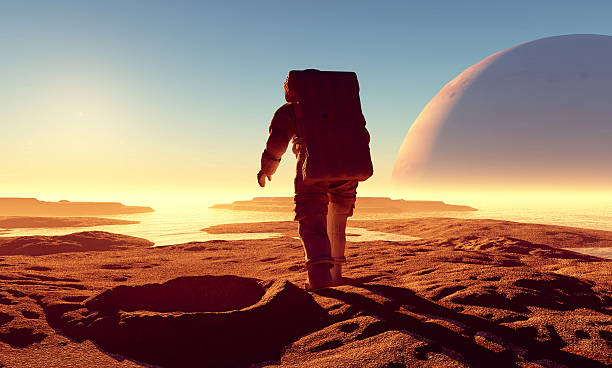the  crater - astronaut stock pictures, royalty-free photos & images