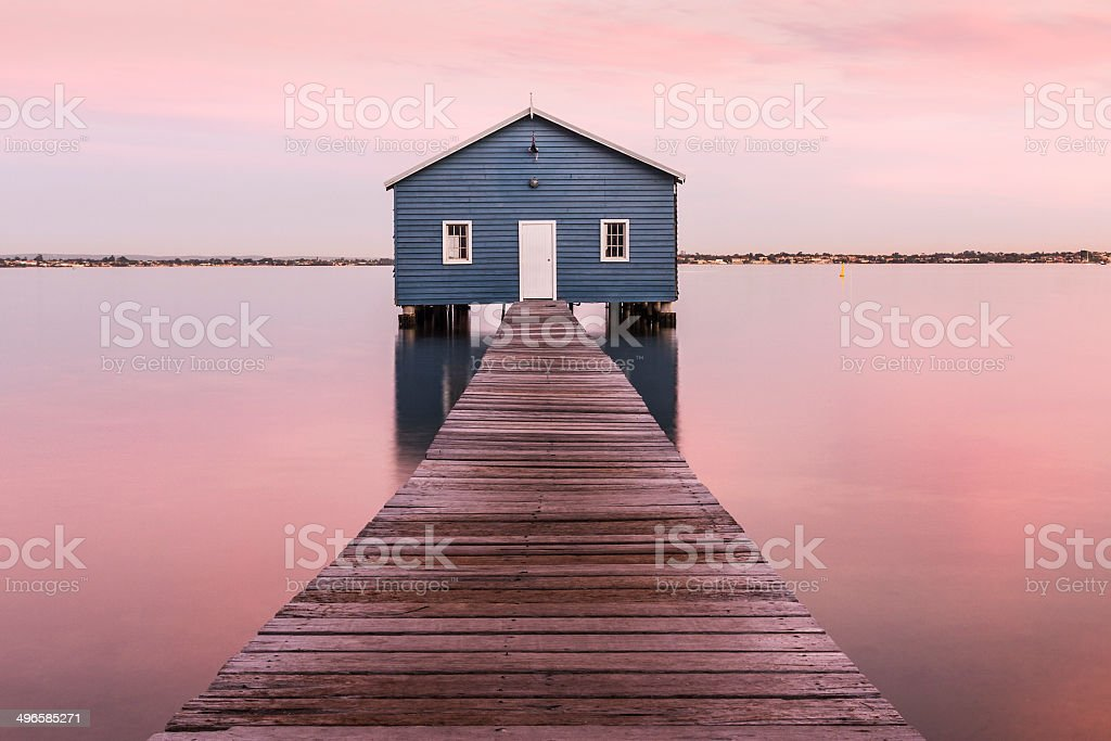 The Crawley Boatshed on the swan river in Perth, Australia stock photo