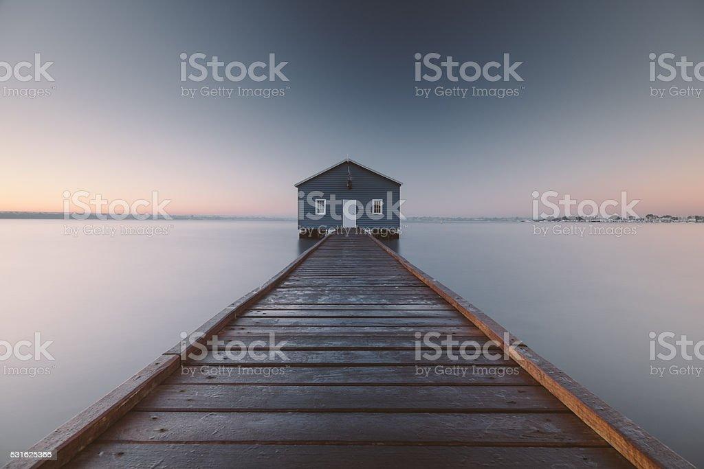 The Crawley Boatshed stock photo