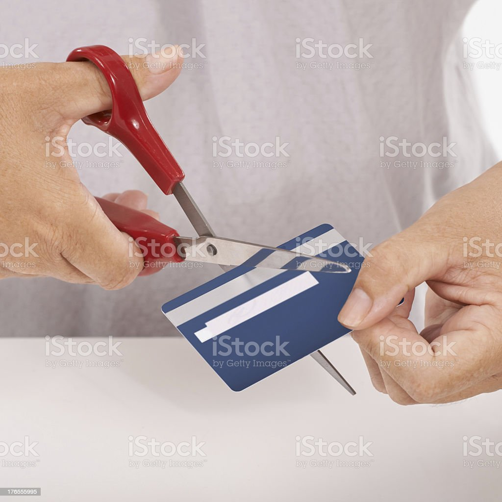 The credit card has been declined royalty-free stock photo