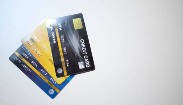 the credit card prepare for customer and entrepreneur using for online shopping. - paying with card shop imagens e fotografias de stock
