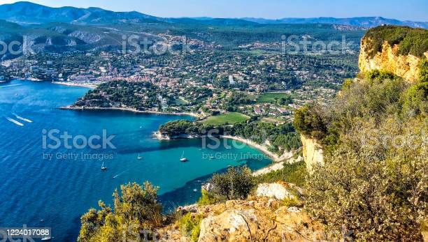 The Creeks Of The City Of Cassis Seen From The Crest Road Stock Photo - Download Image Now