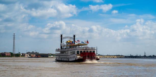 Das kreolische Queen Paddle Boot auf dem Mississippi – Foto