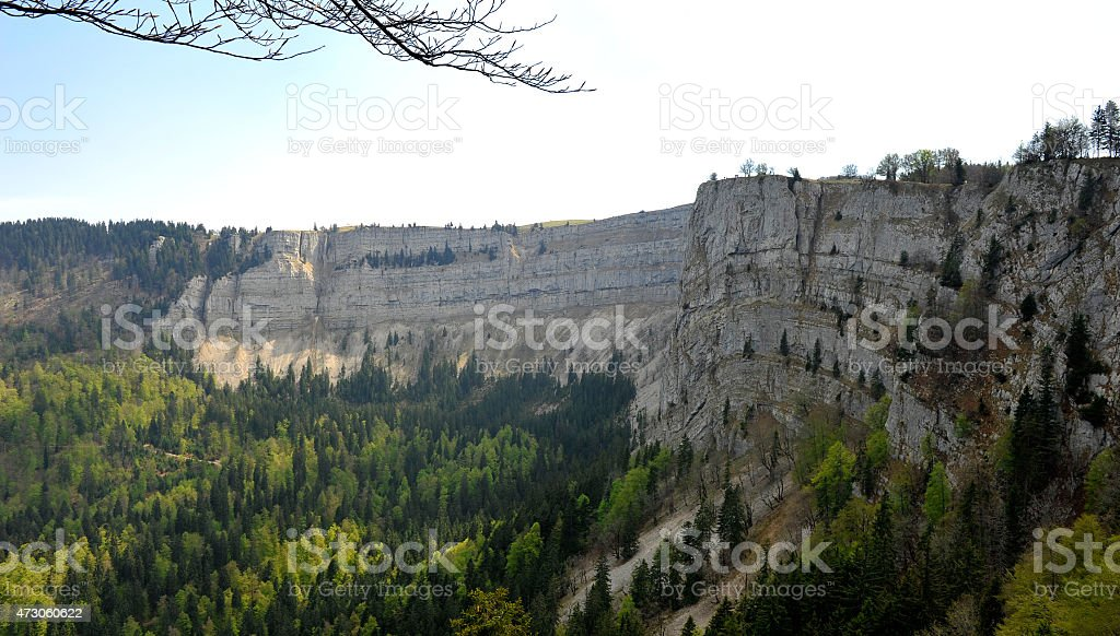 The Creux du Van stock photo