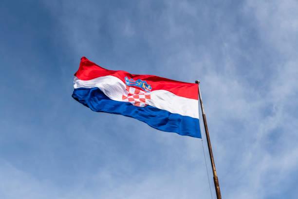 La bandera croata - foto de stock