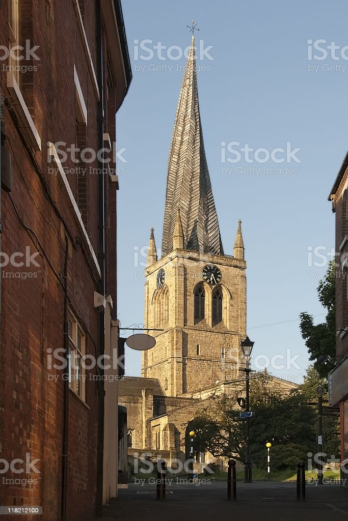 The Crooked Spire, Chesterfield royalty-free stock photo