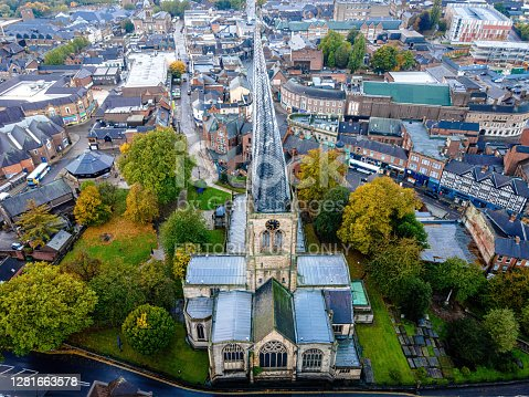 istock The crooked spire of the Church in Chesterfield, UK 1281663578