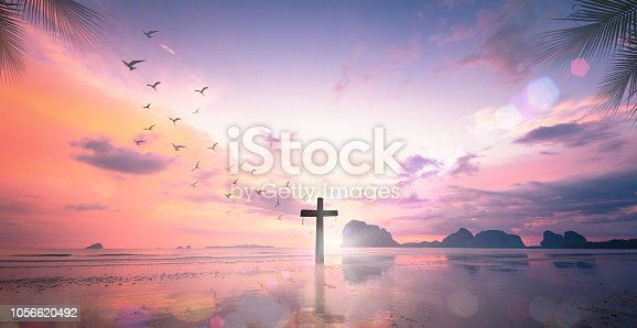 istock The cross at autumn background 1056620492