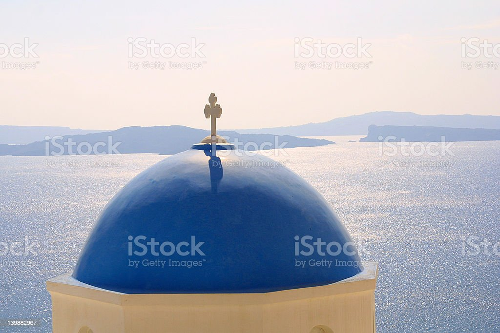 The cross from Santorin royalty-free stock photo