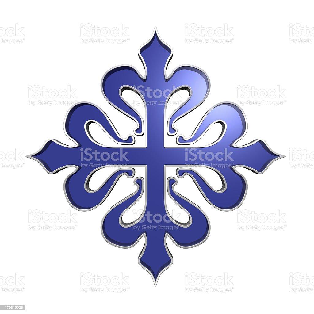 The cross of Calatrava. stock photo