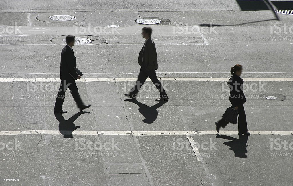The Cross Walkers #1 royalty-free stock photo