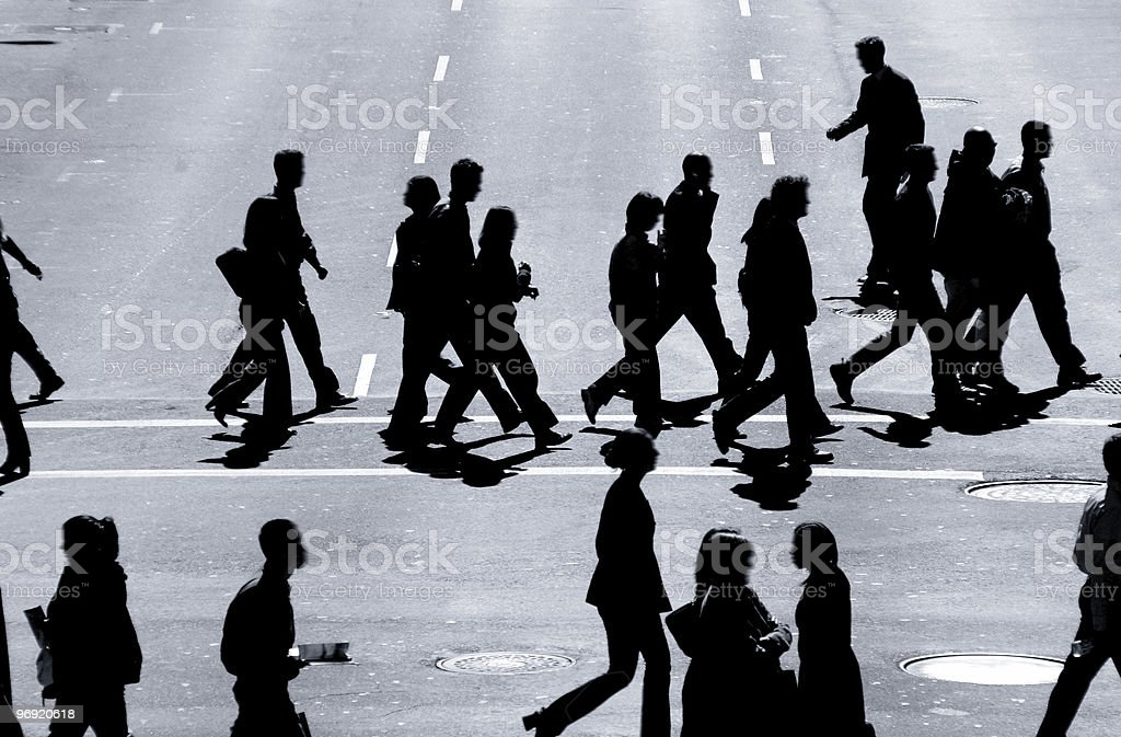 The Cross Walkers #2 royalty-free stock photo