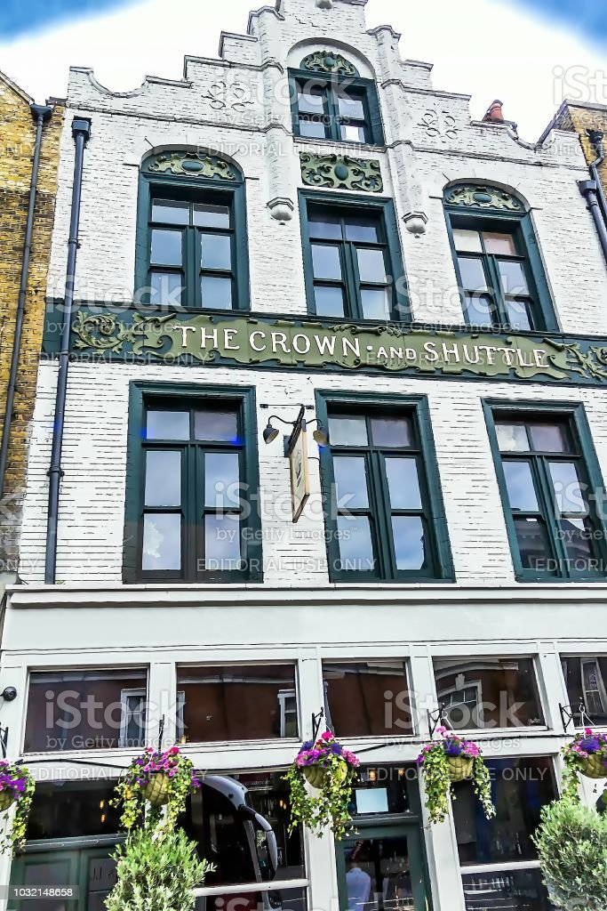 The Crown and Shuttle Pub. London. UK stock photo