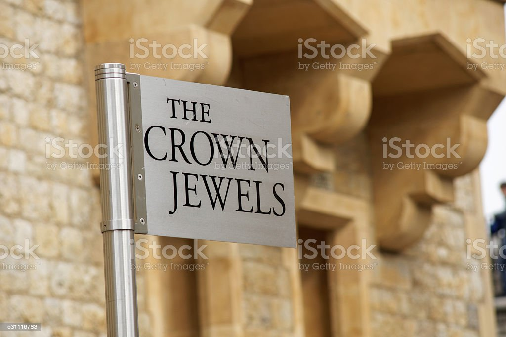 The crown jewels stock photo