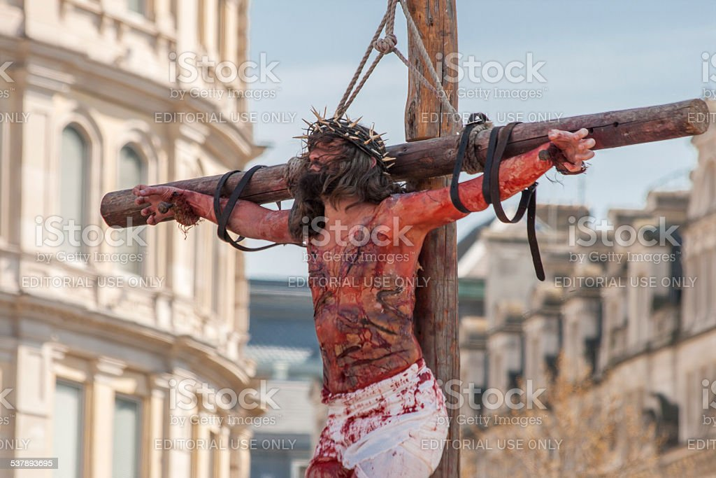 The Crucifixation of Christ stock photo