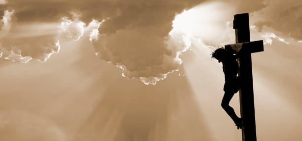 The Crucifixion of Jesus Christ  religious cross stock pictures, royalty-free photos & images