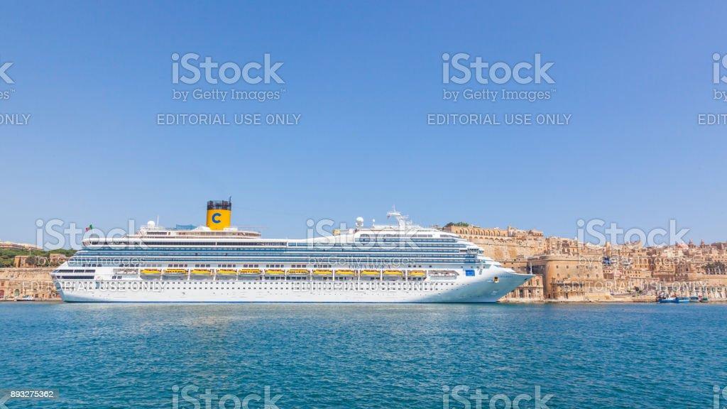 The cruise liner Costa Magica in Malta stock photo