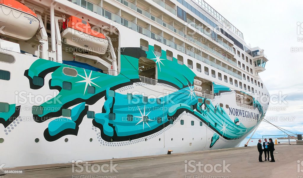 Rome, Civitavecchia, Italy - May 03, 2014: The cruise Ship stock photo