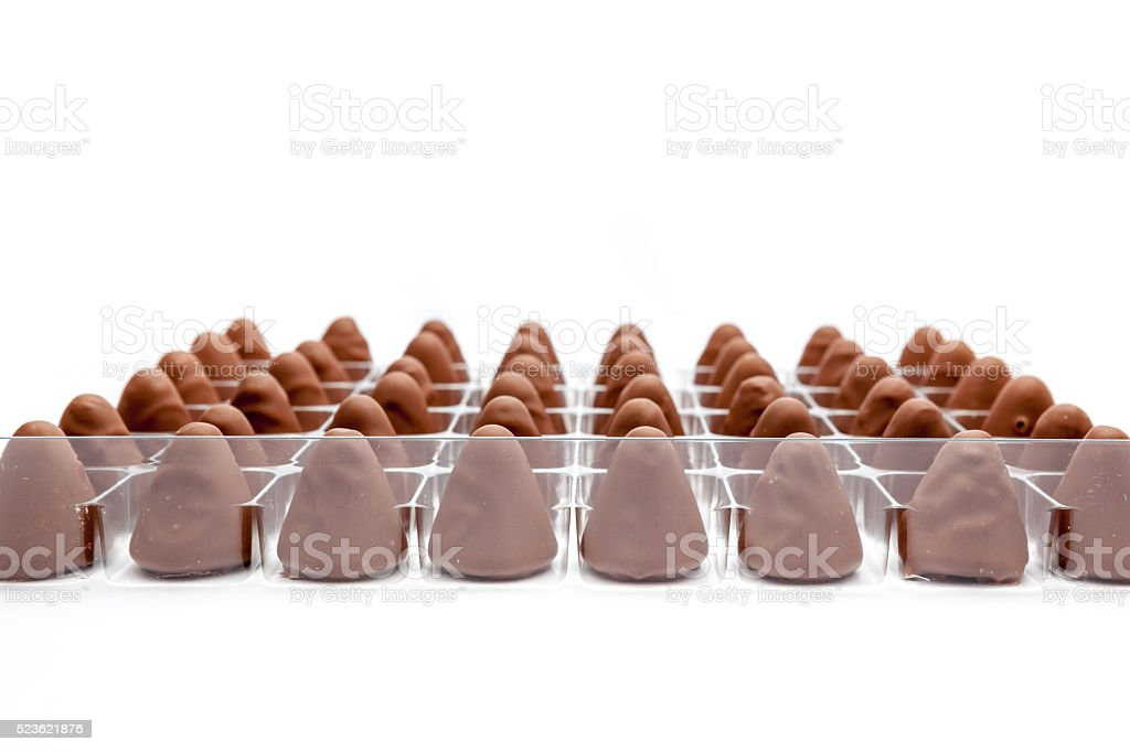 the cuberdons chocolate stock photo
