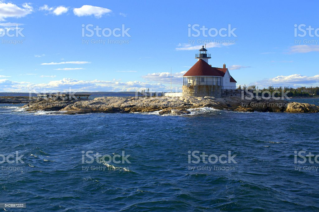The Cuckolds Lighthouse, Maine USA stock photo