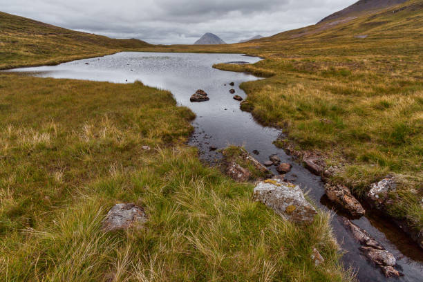 The Cuillin on The Isle of Skye stock photo