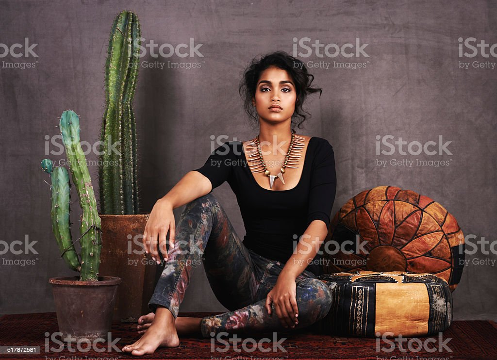 The culture of beauty stock photo
