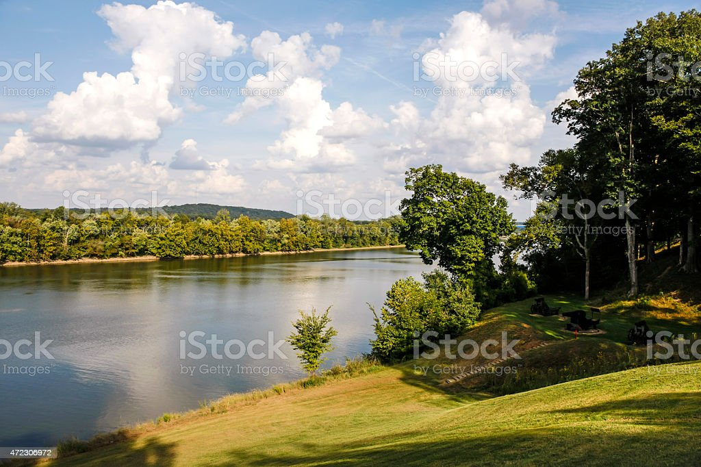 The Cumberland River in Tennessee stock photo